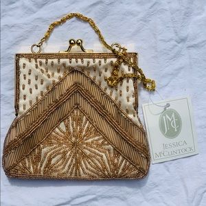 Jessica McClintock Beaded Clutch NEW W/ TAGS